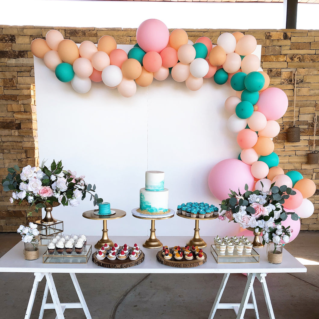 1ST - WOODEN WALL WITH MERMAID THEME BALLOONS