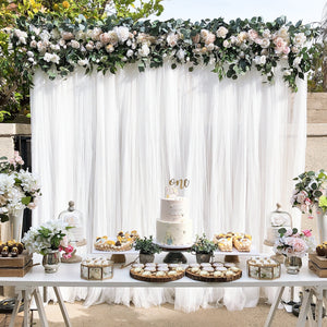 1ST - WHITE AND BLUSH GARLAND
