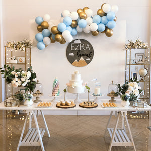 1ST - WOODEN WALL WITH SKY THEME BALLOONS