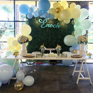 1ST -GREENERY AND PASTEL BALLOONS