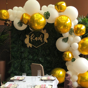 BABY - GREENERY & WILD GOLD BALLOON ONLY