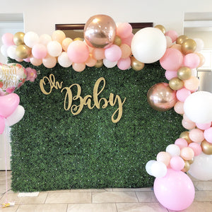BABY - GREENERY & PINK GOLD BALLOON ONLY