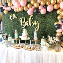 Load image into Gallery viewer, BABY - GREENERY AND PINK/NAVY BALLOONS