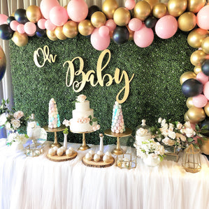BABY - GREENERY AND PINK/NAVY BALLOONS