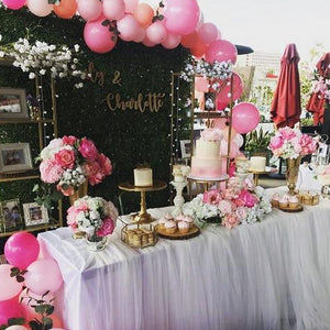 1ST -GREENERY AND HOT PINK BALLOONS