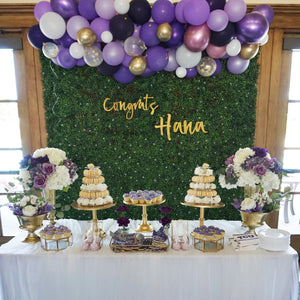 BABY - GREENERY WITH PURPLE BALLOONS