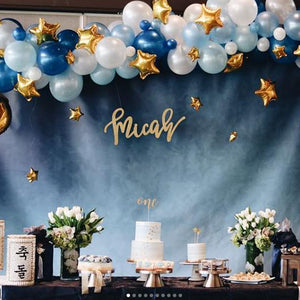 1ST -NAVY AND TWINKLE TWINKLE BLUE BALLOONS