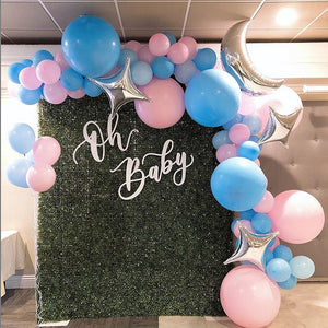BABY - GREENERY & PINK/ BLUE BALLOON ONLY