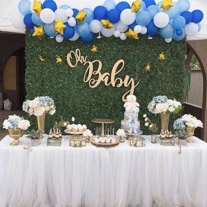 BABY - GREENERY WITH TWINKLE TWINKLE BLUE BALLOONS