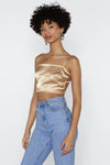 Crop Top Satin Nasty Gal