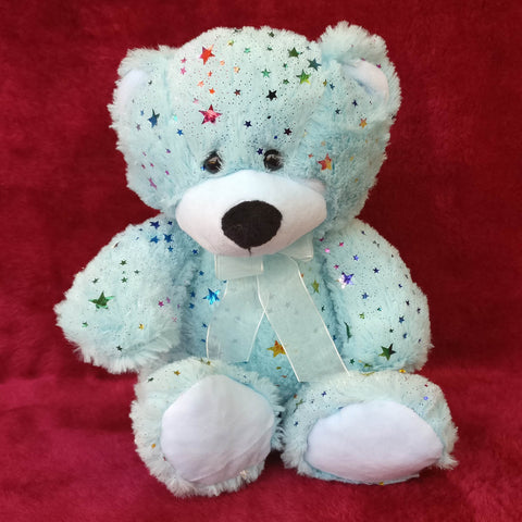 Bright Blue Teddy Bear 25 cm - Chirukaanuka