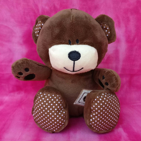 Polka Dotted Brown Bear 20 cm - Chirukaanuka