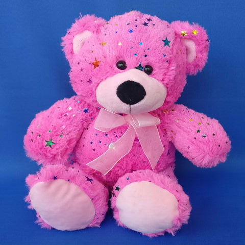 Bright Pink Teddy Bear 25 cm - Chirukaanuka