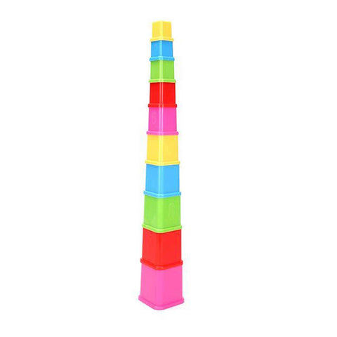 Build Up Cube Stackers Multicolor 10 Pieces - Chirukaanuka