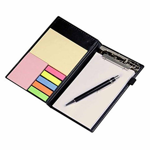 Memo Note Book With Sticky Notes & Clip Holder (Diary Style) - Chirukaanuka