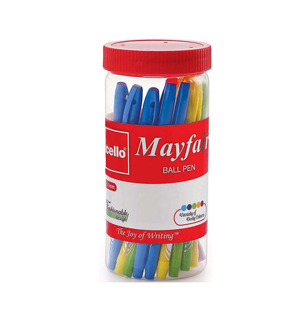 Cello Mayfair Ball Point Pen (25 Pens Jar - Blue)