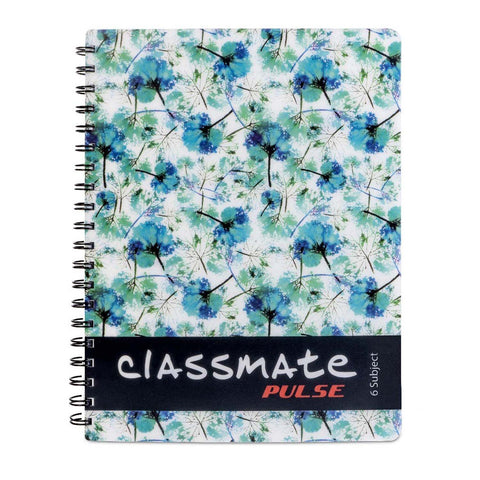 Classmate Soft Cover Pulse 6 Subject Spiral Binding Notebook