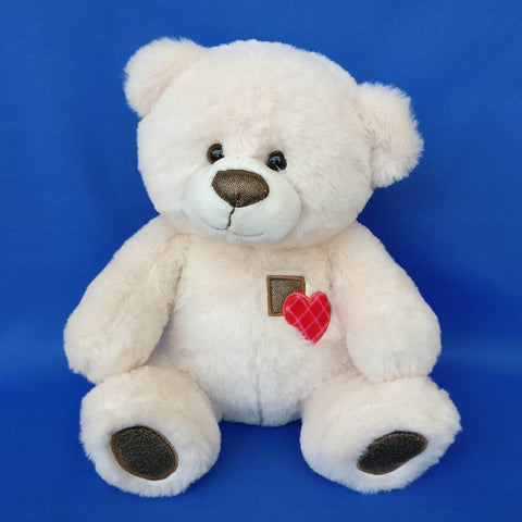 Cuddly Cream Teddy Bear 26 cm - Chirukaanuka