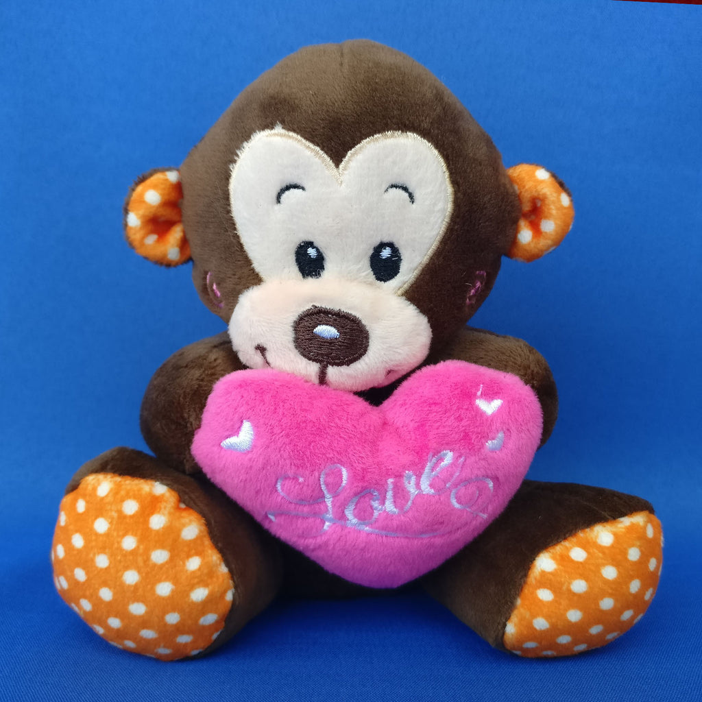 Dark Brown Monkey Soft Toy 14 cm - Chirukaanuka