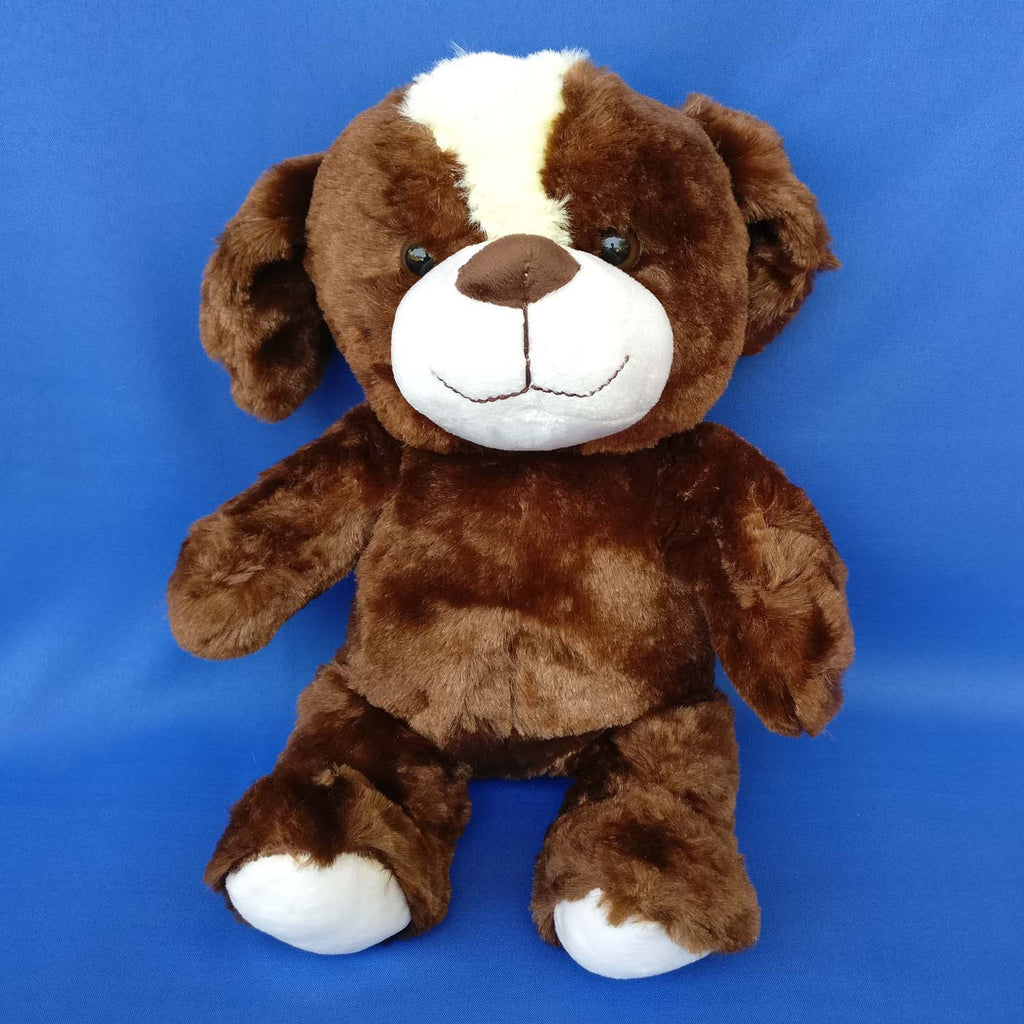 Soft Brownish Plush Dog 36 cm - Chirukaanuka