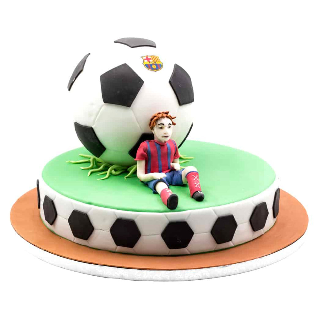 Football Player Fondant Cake - Chirukaanuka