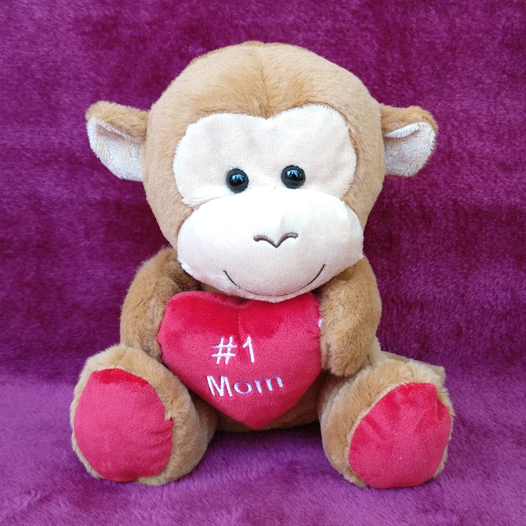 Soft Monkey Toy For Mom 26 cm - Chirukaanuka