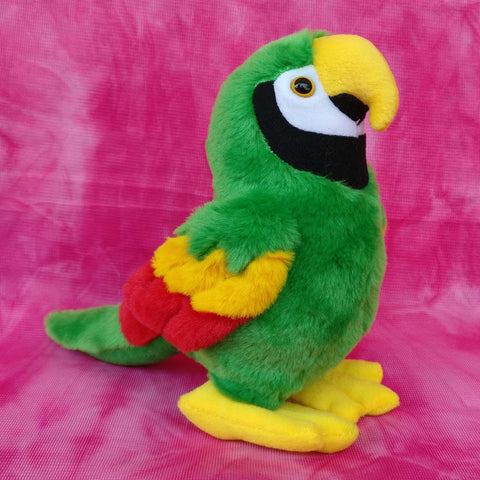 Parrot Plush Green Toy 20 cm - Chirukaanuka