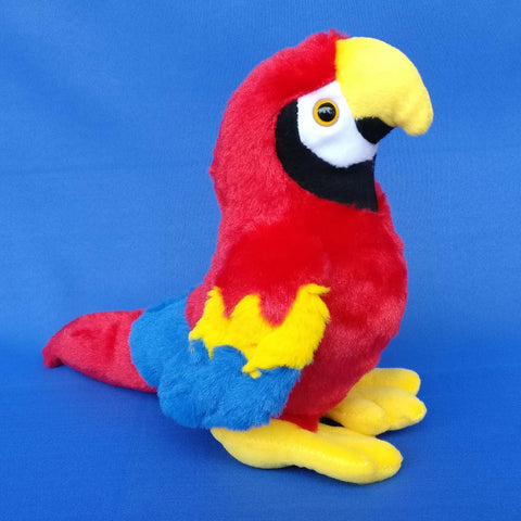 Parrot Plush Red Toy 20 cm - Chirukaanuka