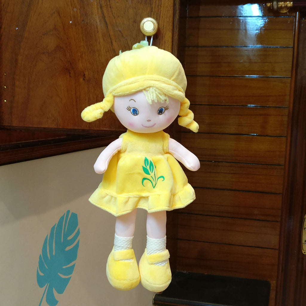 Baby Girl Plush Doll Yellow 36 cm - Chirukaanuka