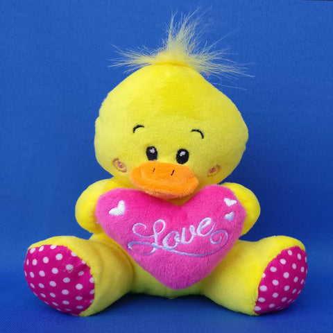 Soft Cute Yellow Duck Toy 14 cm - Chirukaanuka