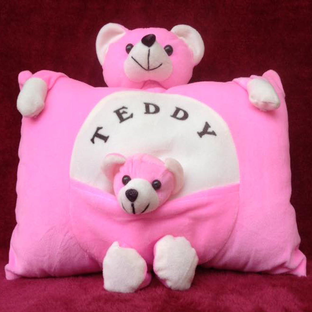 Mom and Baby Plush Pillow 38 cm - Chirukaanuka