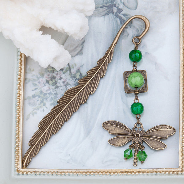 DoreenBeads Dragonfly Animal Antique Bookmark - Chirukaanuka