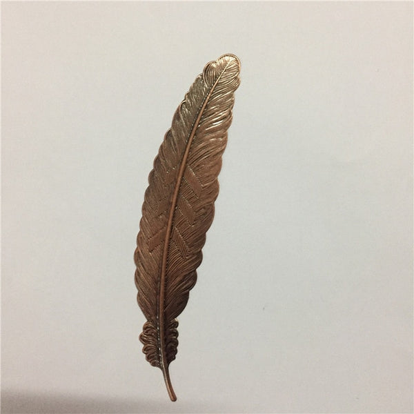 Creative Metal Silver Plated Feather Bookmark - Chirukaanuka