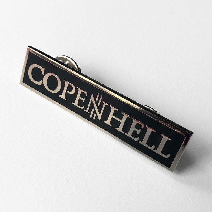 Enamel logo pin - rectangular