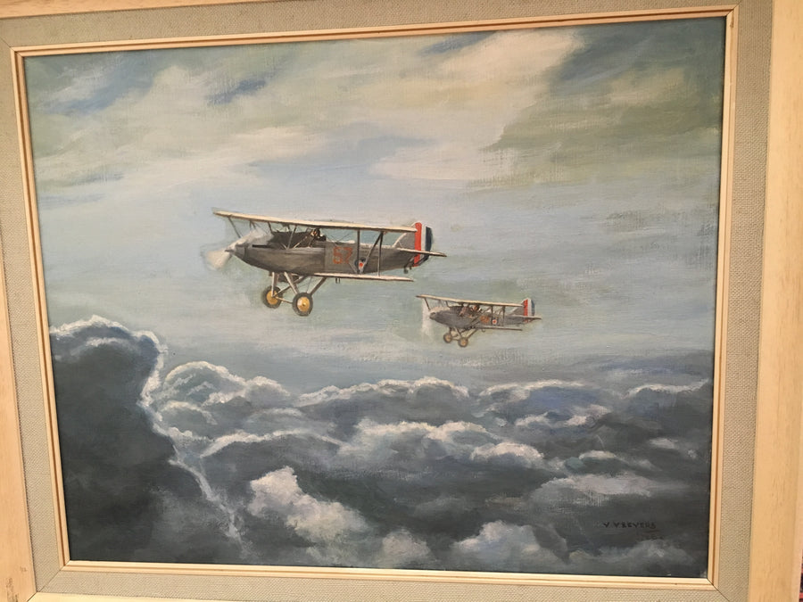 Two Hawker Harts of No. 57 Squadron, R.A.F, flying above the clouds ( 1931 - 1936 )
