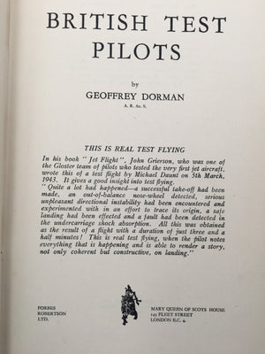 BRITISH TEST PILOTS