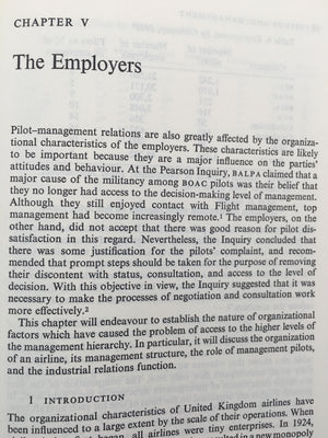 PILOTS AND MANAGEMENT : INDUSTRIAL RELATIONS IN THE U.K. AIRLINES