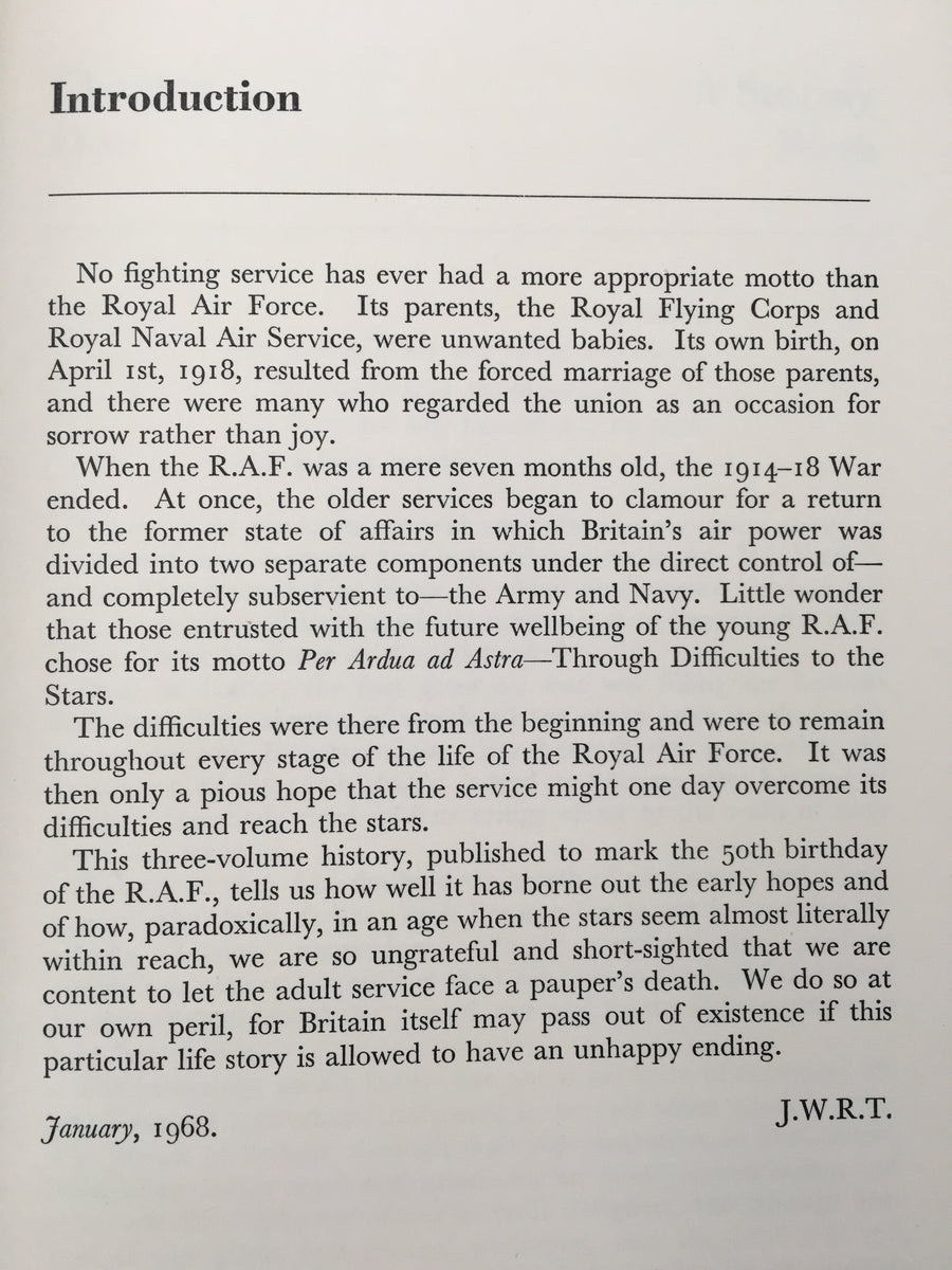 Pictorial History of the RAF, Volume One, 1918 - 1939