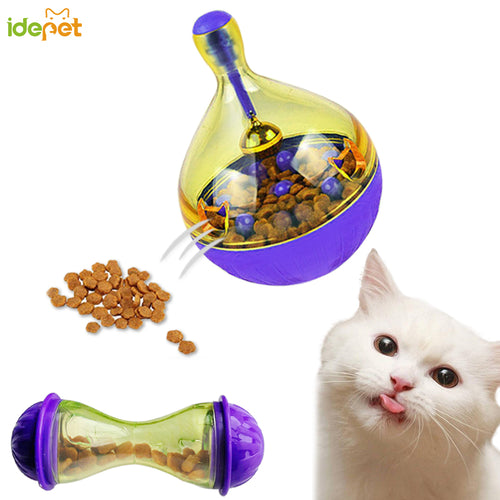 Cat Food Feeders Ball Pet Interactive Toy Tumbler Egg Smarter Cat Dogs Playing Toys Treat Ball Shaking for Dogs Increases 30