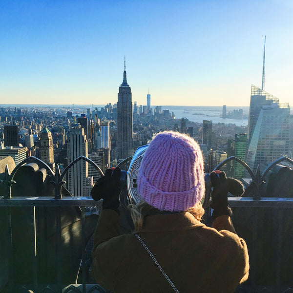 new york fashion week top of the rock i love mr mittens beanie