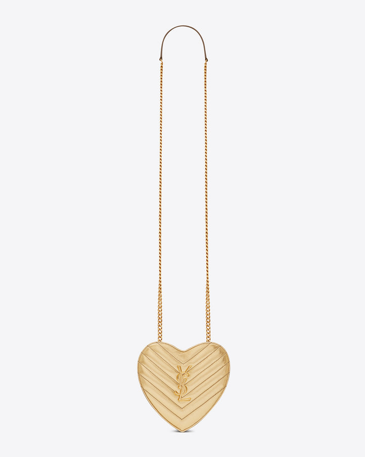 YSL Gold Love Heart Bag Small, The Boyfriend Shirt Perth Australia Fashion Blog