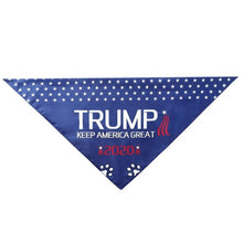 Load image into Gallery viewer, Trump 2020 American Flag Dog Bandana Dog Washable Triangular Scarf for Small Medium Large Dogs Cats Pets