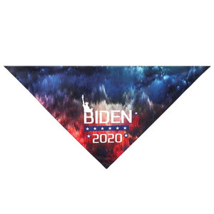 Trump 2020 American Flag Dog Bandana Dog Washable Triangular Scarf for Small Medium Large Dogs Cats Pets