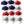 Load image into Gallery viewer, Patriotic Colors String Tie Face Masks