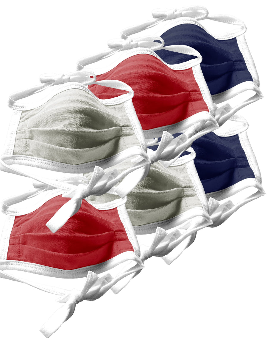 Patriotic Colors String Tie Face Masks