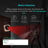 Topvico Wifi Doorbell Camera Video Peephole Door Intercoms 4.3 Inch Motion Detection Wireless Door Viewer Video-eye Smart Ring