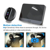 "Topvico Tuya Doorbell Peephole Door Camera Wifi Doorbell Video Intercom 4.3"" LCD Motion Detection Video-eye Viewer Wireless Ring"