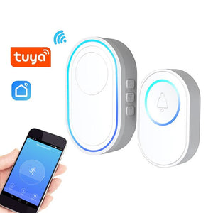 Topvico Tuya Doorbell WiFi SOS Panic Button Emergency Alarm Smart Doorbell Kit Wireless Ring Door Bell 80M Remote Chime 58 Songs