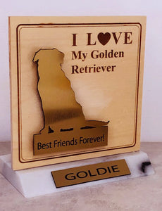 Golden Retriever Desktop Trophy