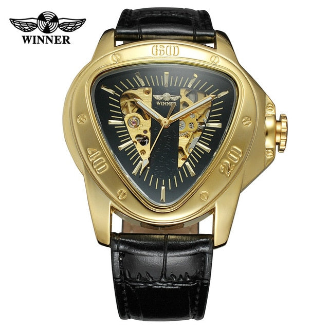 Luxury Leather Band Men Wristwatch